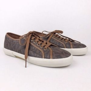 Michael Kors MK Signature Boerum Brown Sneakers